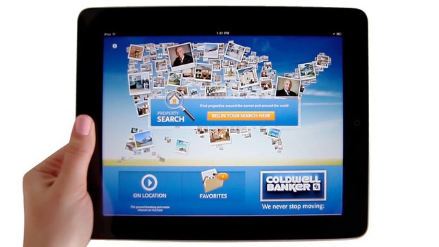 Coldwell Banker's Real Estate App for the iPad.
