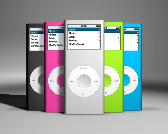 The second-generation iPod nano came in multiple colors.