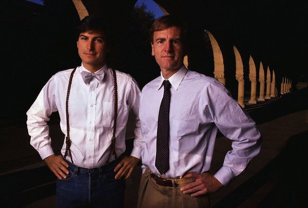 1984 --- Steve Jobs and John Sculley --- Image by Ed Kashi/CORBIS