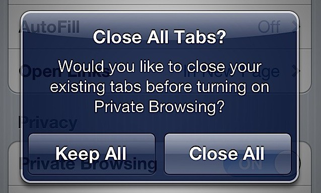 Activate Private Internet Browsing For Safari In Ios 5 Ios Tips  Cult Of Mac-9063
