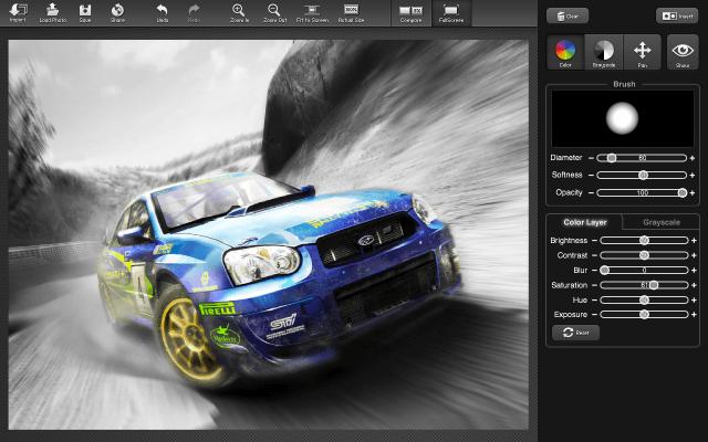Color Splash Studio - Rally Car Photo