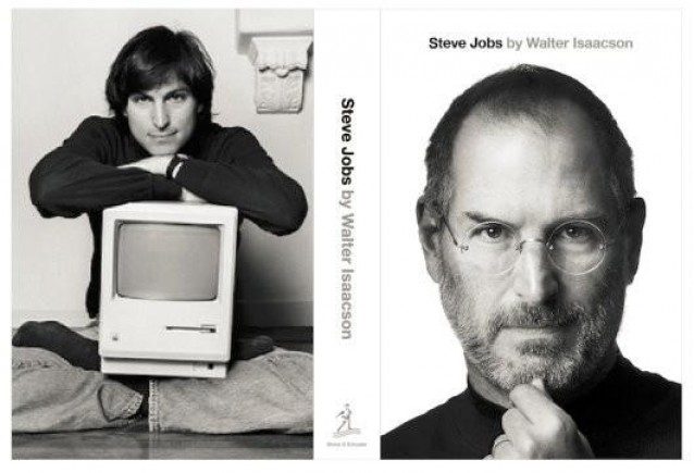 The Albert Watson photo graces the cover of Walter Isaacson's biography of Steve Jobs.