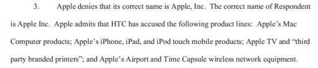 Apple name without comma