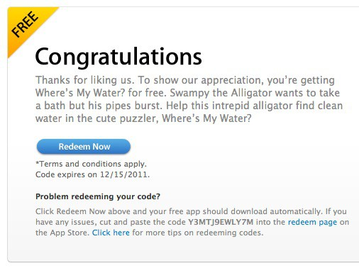 APPLE APP STORE COUPON