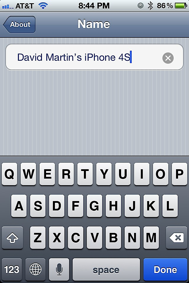 Now Youll Be Able To Edit The Name And Once You Are Satisfied Just Tap Done On Keyboard Or Exit Settings App Save It