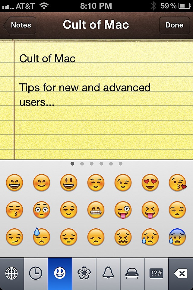 Emoticons Are Finally Easy To Access In Ios 5 Ios Tips Cult Of Mac