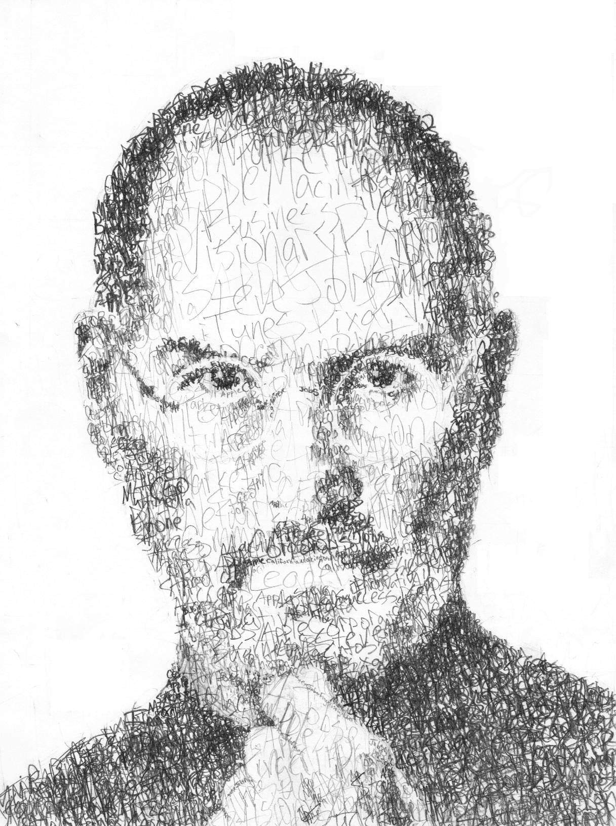 Drawing Lines In Word Mac : Art professor draws his hero steve jobs using nothing