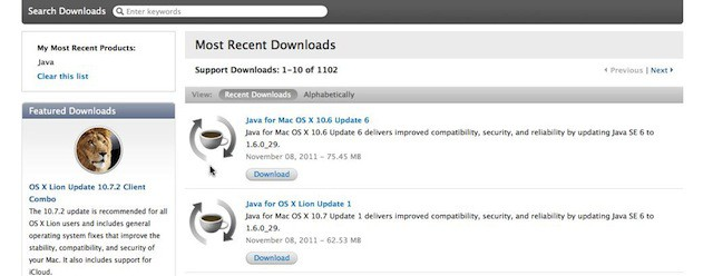 java for os x download