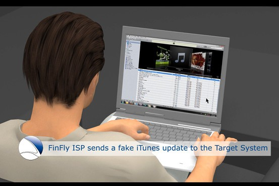 The FinFisher Trojan is government spyware that is installed via a phony iTunes update. Image by Gamma International UK Ltd.