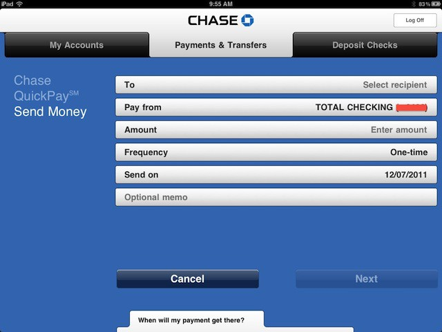 chase adds paypal like person to person pay feature to its apps rh cultofmac com transfer money on chase transfer money from a chase account