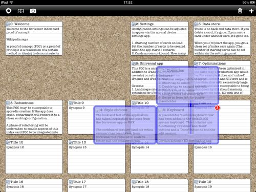 a Scrivener for iPad proof-of-concept