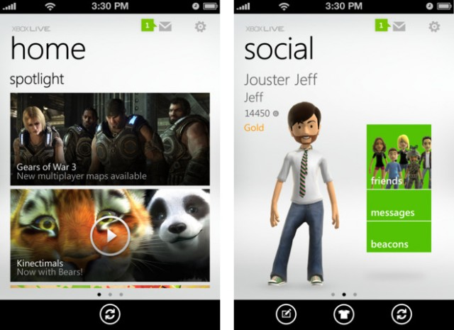 Microsoft Releases Official My Xbox LIVE App In The App