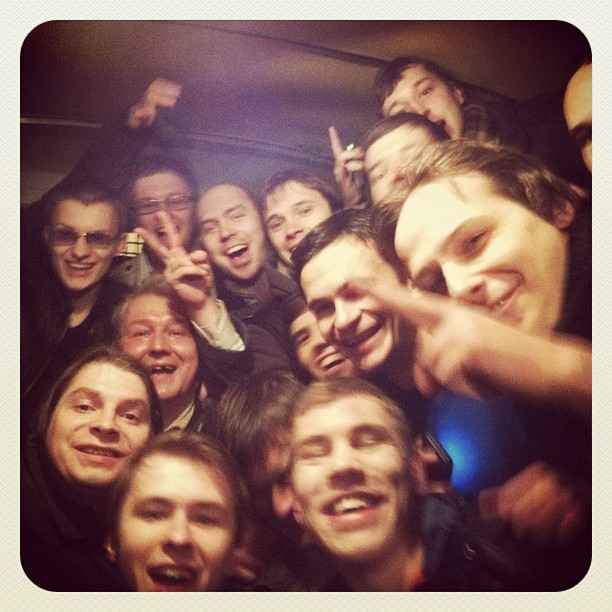 Protesters inside the police van via Instagram. Photo: Alexei Navalny.