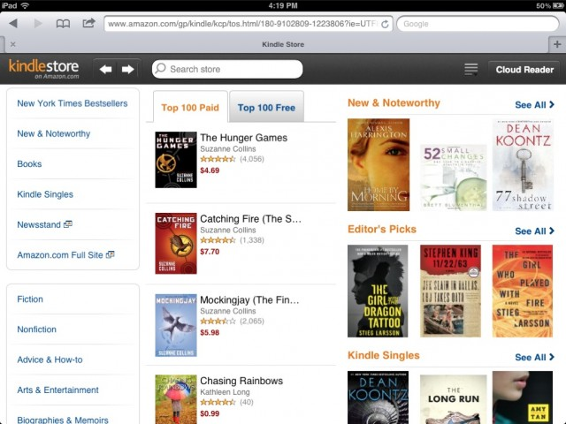Amazon Launches Kindle Store Web App For The iPad | Cult of Mac