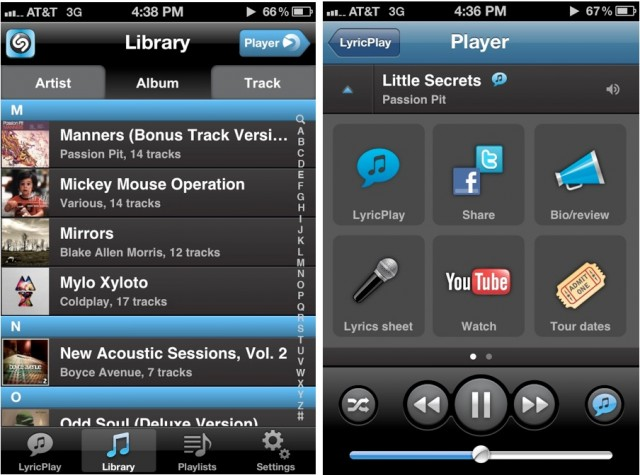 Shazam Player For iPhone Replaces The iOS Music App With