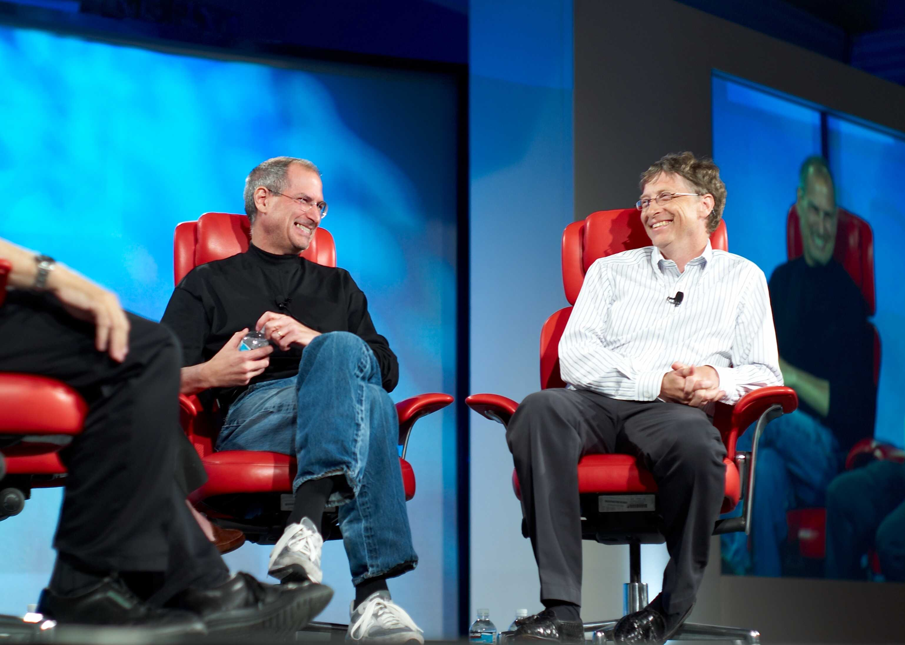 Steve Jobs and Bill Gates, rivals and friends.