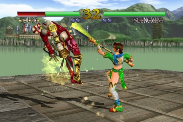 SoulCalibur finally allows you to compete with friends over Bluetooth.