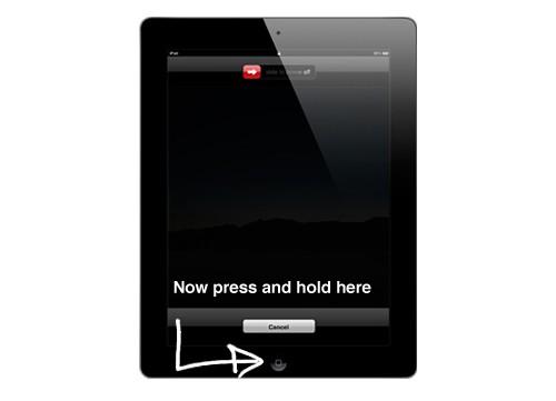Ipad press hold