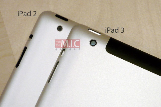 The iPad 3 is a little fatter than the iPad 2, but hides it well. Photo MIC Gadget/Flickr