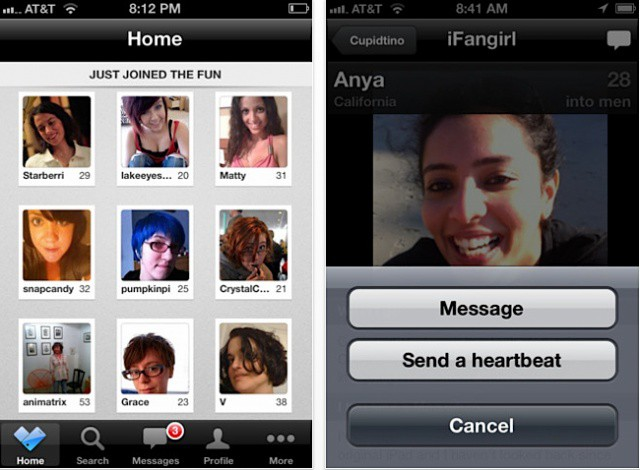 The Cupidtino iPhone app.