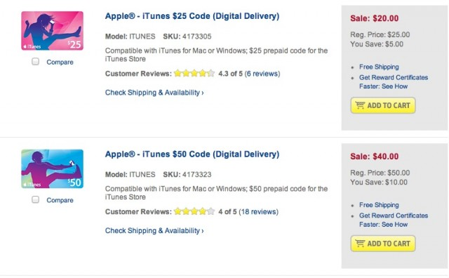 Best Buy Goes Insane, Starts Selling iTunes Gift Cards For 20% Off ...