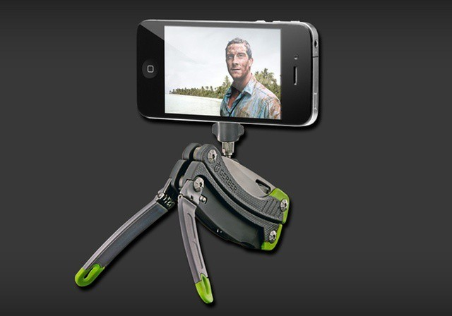 A camera-phone stand, and a bottle opener. What more could you need?
