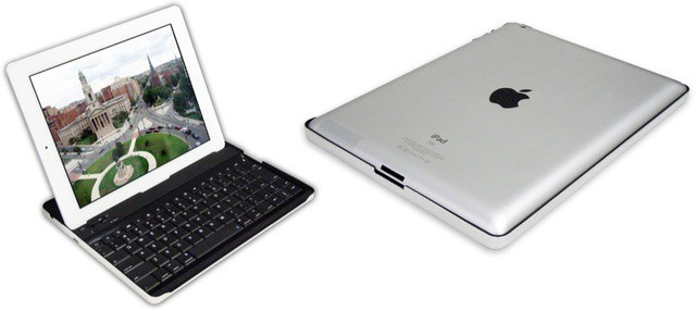 At first look, this keyboard case is a clone of one by Zagg. Look closer and it gets better, though