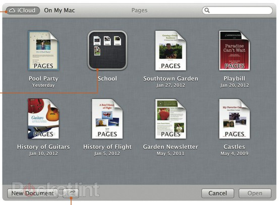 The Finder's new iCloud view works just like iOS. Screenshot: Pocket Lint