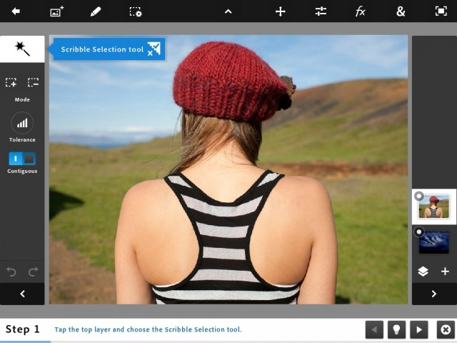 Photoshop Touch is so good you probably don;t need a Mac