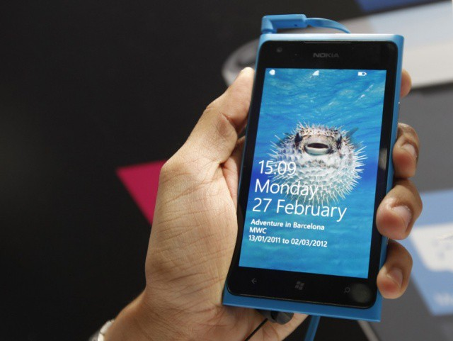 The Nokia Lumia 900, image courtesy of the International Business Times