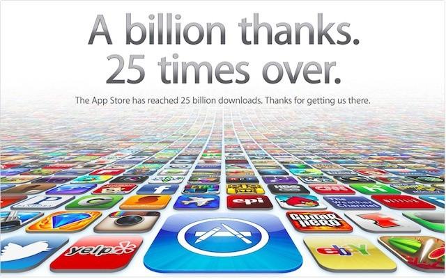 Apple app store hitting 25 billion downloads imminently slashgear.