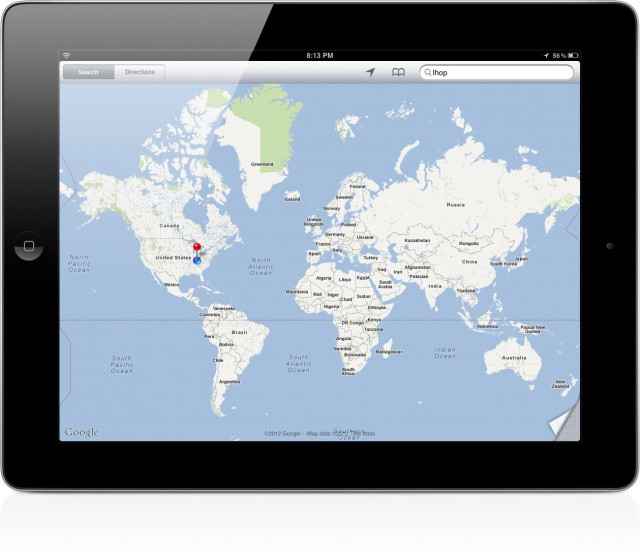 Google Maps on iPad