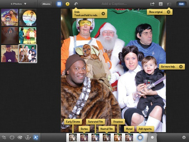The help labels in iPhoto will help you learn your way around