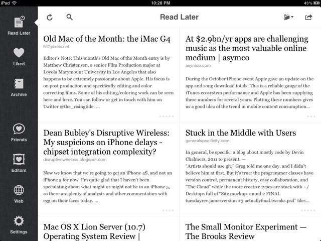 Instapaper-iPad