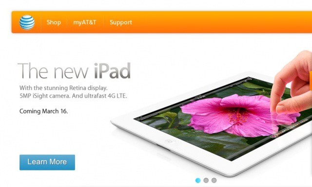 The new iPad can run on AT&T's 4G LTE network in select areas of the United States.