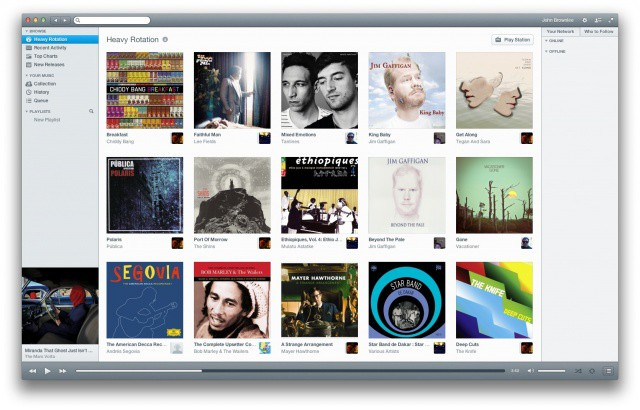 Rdio's interface sure is a refreshing change of pace from Spotify's 1995