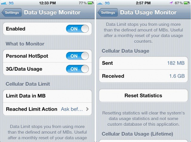 limit data usage iphone data usage monitor ensures that you will never exceed your 7869