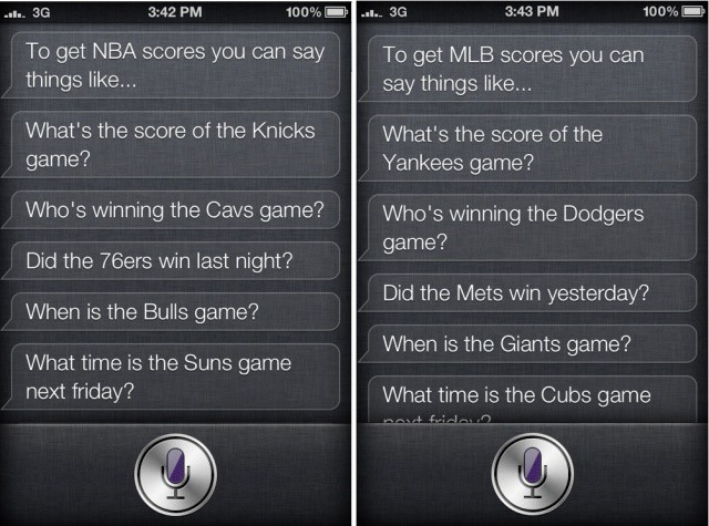 SiriSports makes it easier to check scores on your iPhone 4S