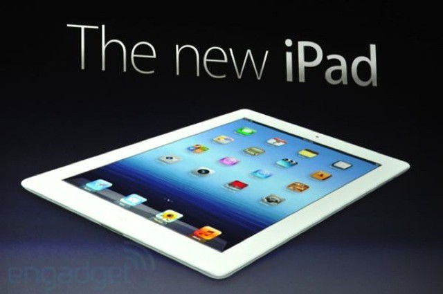The 'New iPad.' Photo Engadget