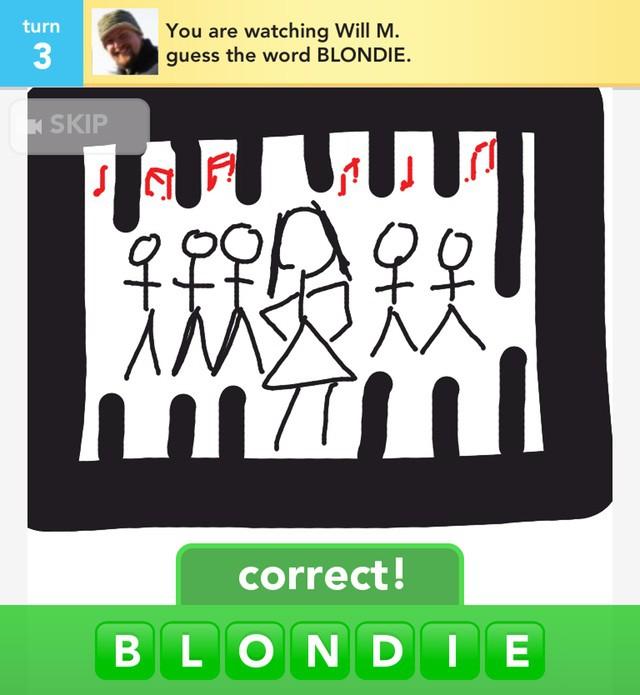 Like my drawing of Blondie?