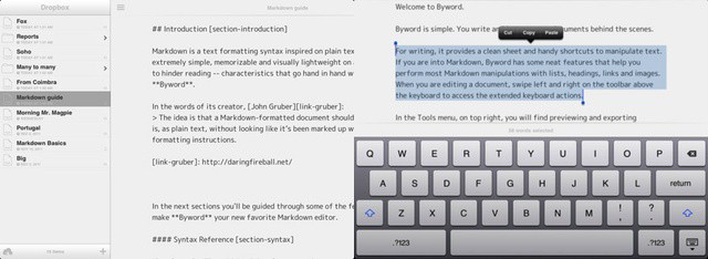 Byword stands out from the Markdown crowd with its elegant simplicity