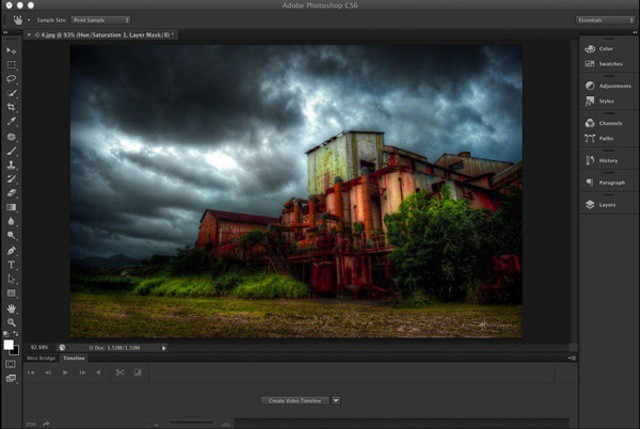 Photoshop's new dark interface is perfect for working late into the night