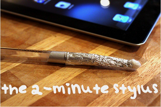 If you care nothing for aesthetics, you can make a stylus in a couple minutes. Photo CNET