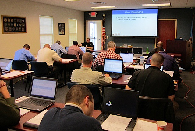 Police computer forensics training in Middletown, Delaware.