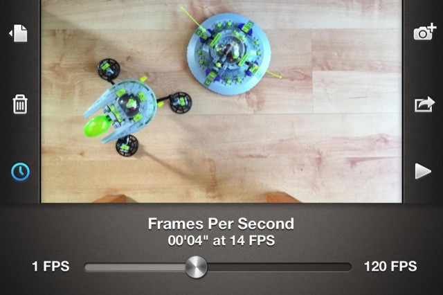 Adjust the playback with a slider