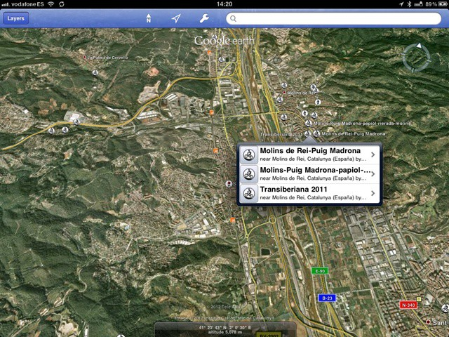 Now you can access earthquake info, bike routes and lots more from within Google Earth ittself