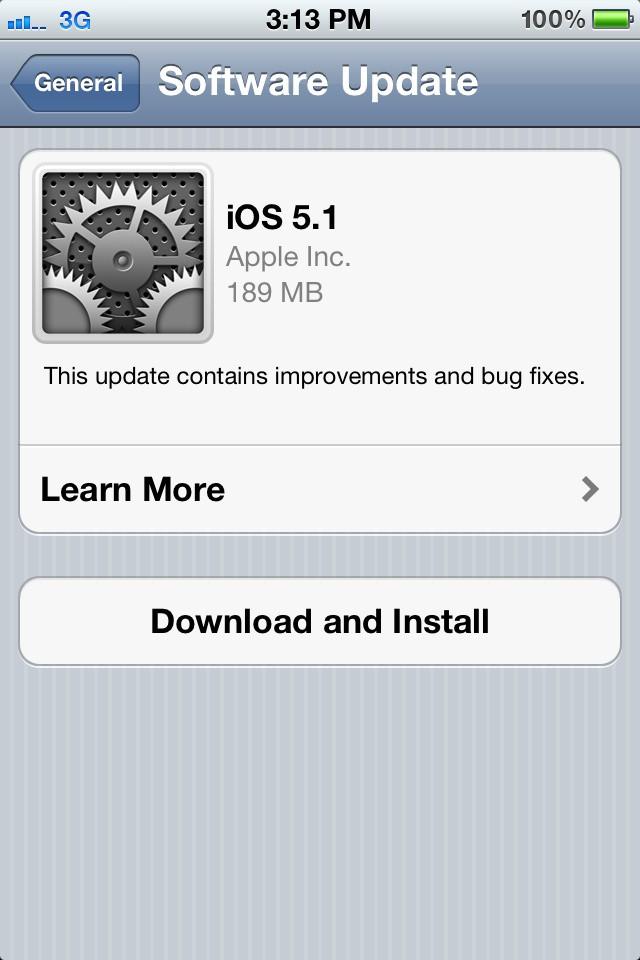 iOS 5.1 OTA