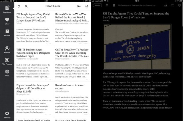 The modern and good-looking cell view (left) and the new dimmed images in night mode