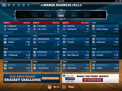 NCAA March Madness Live For iPhone And iPad Now Available In The App Store | Cult of Mac