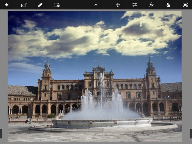 Boring sky? Jazz it up in seconds using Photoshop Touch's Fade tool